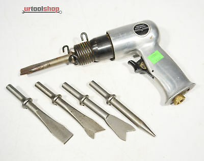 Air Hammer Air Chisel CENTRAL PNUEMATIC Model 4842 W/ Chisels 1333-40