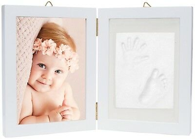 Baby Hand And Footprint Picture Frame Kit - Memorable Keepsakes Gift For New Or