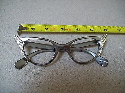 Vintage Cat eye Glasses 1960's All metal Frame By Tura Made In USA
