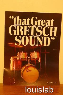 Vintage & Historic 1971 Gretsch Drum Catalog And Price List Buy It Now!