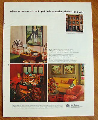 1965  Bell Telephone Ad  Extension Phones & Why