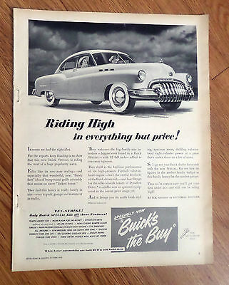 1949 Buick Special Sedan Ad  Riding High in everything but Price