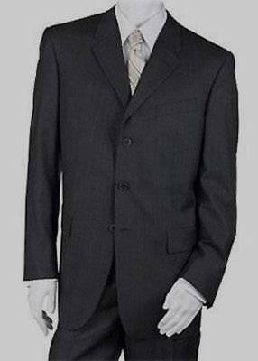 Borrione Men's Wool 3 Button Blazer Suit Jacket 46R