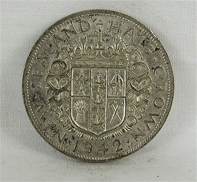 New Zealand 1942 Silver Half Crown