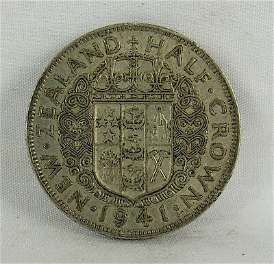 New Zealand 1941 Silver Half Crown
