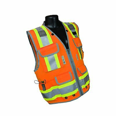 Radians SV55-2ZOD-XL SV55 Class 2 Heavy Woven Two Tone Engineer Hi Viz Orange...