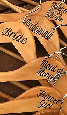 Wedding Coat Hanger Sticker (position in wedding OR name) each