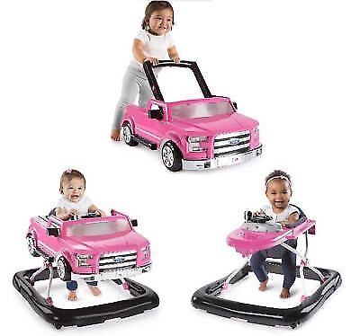 Baby Walker Girl Infant  Activity Toy Adjustable Safety Trend Toy Pink Ford F150