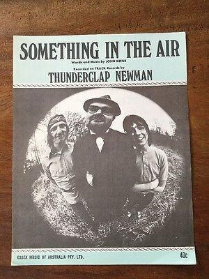 Vintage Collectable Sheet Music Keene something in the air thunderclap Newman 69