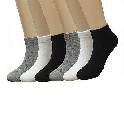 New Lot 12 Pairs Fashion Womens Low Cut Ankle Socks Multi Color Casual Size 9-11