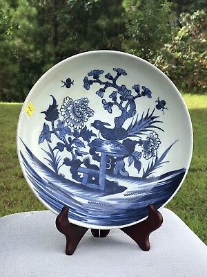Antique Chinese Export Porcelain  Blue And White Plate