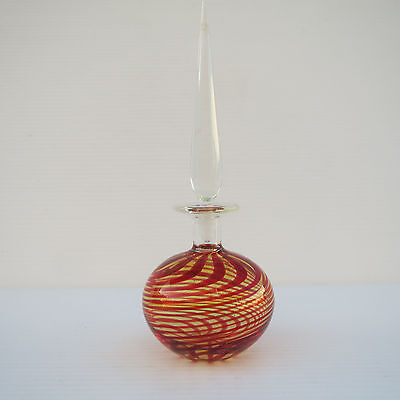 Artisan Scent Bottle Perfume Flask, Clear, Yellow, Red
