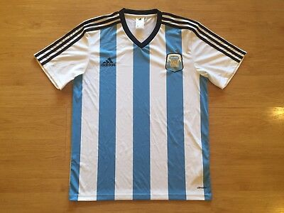Argentina 2014 World Cup Supporters Adidas Shirt Jersey Medium
