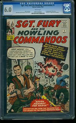 Sgt. Fury 1 CGC 6.0 White Pages Silver Age Key 1st appearance of Sgt. Fury L@@K