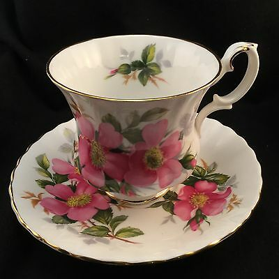 Royal Albert Prairie Rose Demitasse Tea Cup & Saucer Set - Perfect Teacup