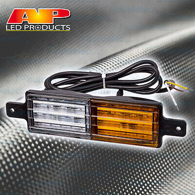 1x BULLBAR LED FRONT INDICATOR & PARKER LIGHT LAMP SUBMERSIBLE 12V VOLT AP11682