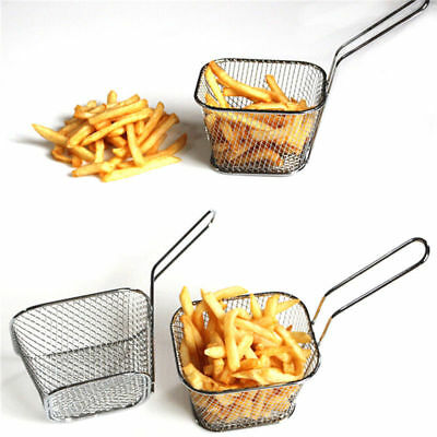 Stainless Steel Mini French Deep Fryers Basket Net Mesh Fries Chip Kitchen Tool