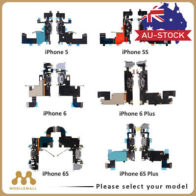 iPhone 5 5S 6 6S 7 Plus Charger Charging Port Dock Mic Headphone Jack Flex Cable