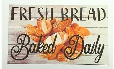 Fresh Bread Bakery Sign Wall Plaque or Hanging Kitchen Cafe Business Shop