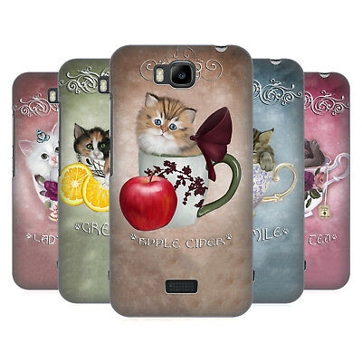 Official Ash Evans Cats On Mugs Hard Back Case For Huawei Phones 2