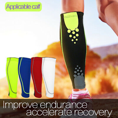 Calf Leg Running Sports Compression Leg Sleeve Socks Shin Splint Support Brace