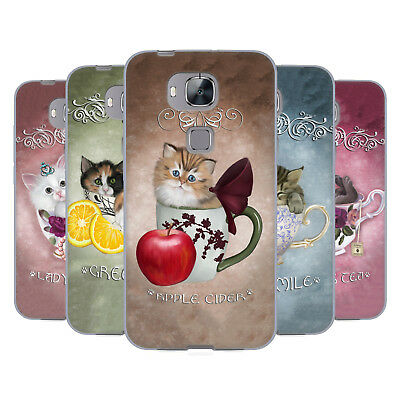 Official Ash Evans Cats On Mugs Soft Gel Case For Huawei Phones 2