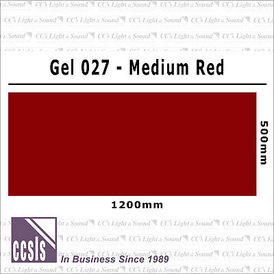 Clear Color 027 Filter Sheet - Medium Red