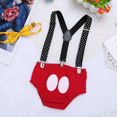 Mickey Mouse Baby Boy 1ST Birthday Cake Photography Prop Costume Romper Outfit
