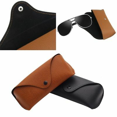 Durable Unisex Leather Eye Glasses Sunglasses Protector Holder Box Case Cover