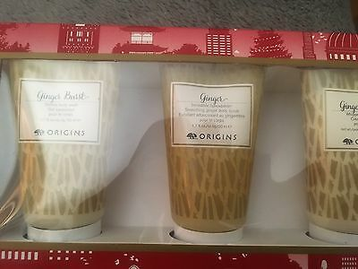 Origins So Ginger Gift Set 50 Ml Bnib Body Wash Scrub And Cream