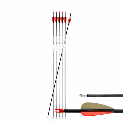 "6-er Pack Hawk Carbonpfeil 30"" (76 cm) Spine 700 ø 5,6 mm"