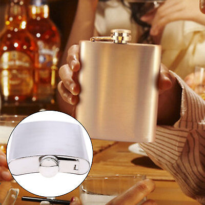 Pocket Stainless Steel Wine Bottle Hip Liquor Whiskey Alcohol Flask Cap 7 8 10oz