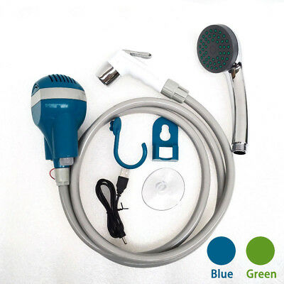 Rechargeab Cordless Electric Portable Camping Shower 1.8M Hose USB Cable 2200mAh