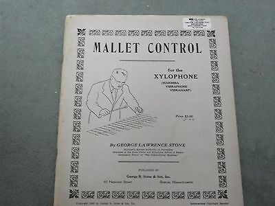 Mallet Control For The Xylophone Etc.  Gl Stone..drums