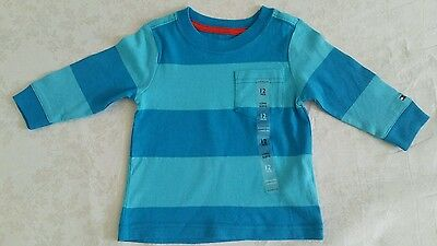 Tommy Hilfiger Baby Boy 2 T shirt Bundle Size 9  12 months Long & S/Sleeves NEW