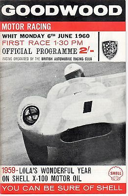 GOODWOOD WHIT MONDAY 6th JUNE 1960 PROGRAMME