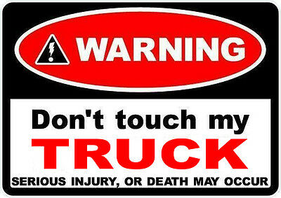 2 X FUNNY TOOLBOX STICKERS WARNING IF YOU VALUE YOUR LIFE DON/'T F*CK WITH THEM