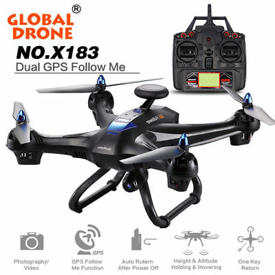 Global VR Helicopter X183 5.8G WiFi 1080P Camera  DUAL GPS Brushless Quadcopter