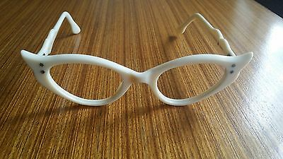Vintage Reading Glasses - 1950s Cats Eye Frames - Dead Stock, Made In France