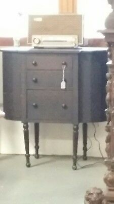 Antique Martha Washington Solid Wood Cabinet Sewing Stand