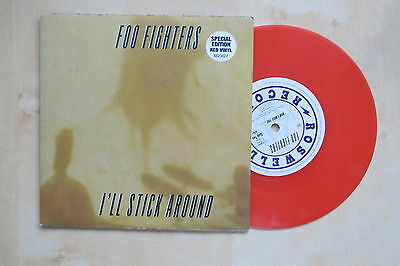 "FOO FIGHTERS I'll Stick around UK red vinyl 7"" in picture sleeve Roswell Records"