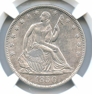 1856-O Liberty Seated Half Dollar, NGC AU 58, CAC Approved!