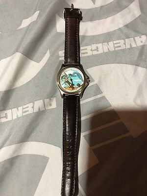 Wile E Coyote Fossil Warner Bros. Rare Collectible Leather Band Watch