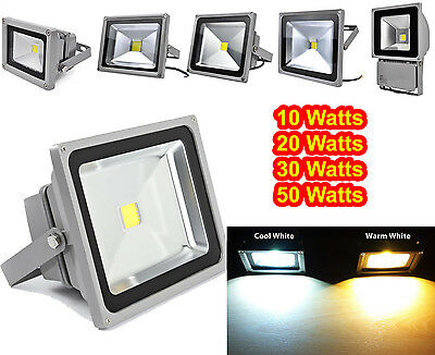 LED Security Floodlight 10W 20W 30W 50W Garden Outdoor Flood Light Lamp UK