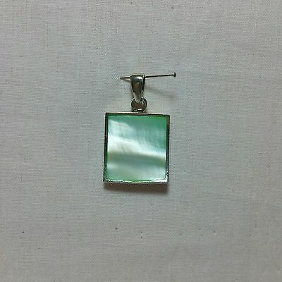 Sterling Silver Shell Inlay Pendant