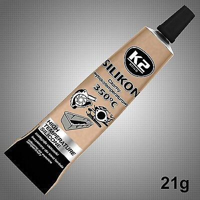 BLACK SILICONE HIGH TEMPERATURE ADHESIVE SEALANT GASKET HEAT RESISTANT CAR 21g.