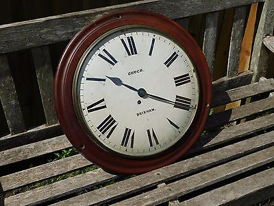 large ANTIQUE FUSEE DIAL CLOCK  >  COUCH  BRIXHAM by  FINNEMORE & SONS
