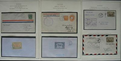 s1575) Flugpost Canada Newfouldland 42 FF covers 1926/64 incl Red Lake 1926