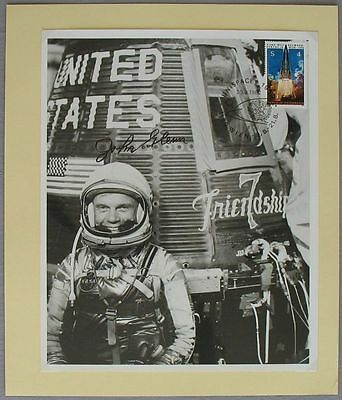 s1202) Raumfahrt UNISPACE Wien 20.8.82 Photo Friendship 7 - John Glenn Autograph