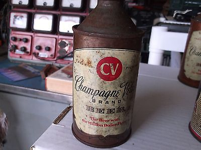 Vintage Straight Steel Champagne Velvet Cone Top Beer Can
